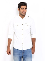 Being Human Clothing Men White Slim Fit Casual Shirt