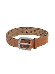 Being Human Clothing Men Brown Leather Belt