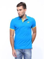 Being Human Men Blue Polo T-shirt