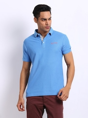 Being Human Clothing Men Blue Polo T-shirt