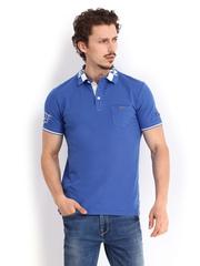 Being Human Clothing Men Blue Polo T-shirt