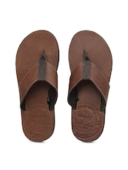 Being Human Clothing Men Brown Leather Sandals