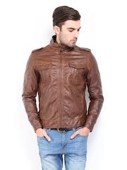 Being Human Clothing Men Brown Padded Jacket