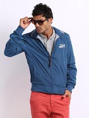 Being Human Clothing Men Blue & Grey Melange Reversible Jacket