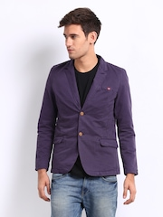 Being Human Clothing Men Purple Blazer