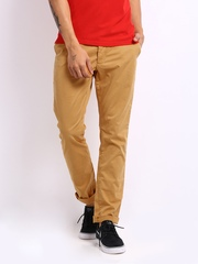 Being Human Clothing Men Mustard Yellow Slim Fit Chino Trousers