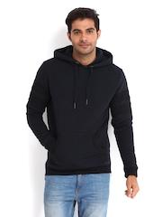 Being Human Clothing Men Navy Hooded Sweatshirt