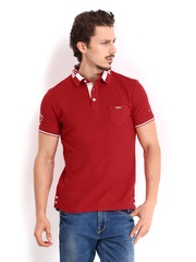 Being Human Clothing Men Red Polo T-shirt