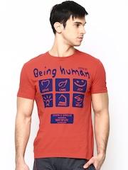 Being Human Men Red Printed T-shirt