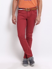 Being Human Clothing Men Red Slim Fit Trousers
