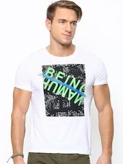 Being Human Clothing Men White Printed T-shirt