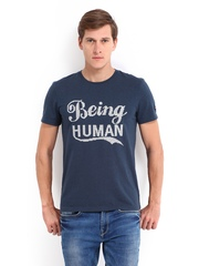 Being Human Clothing Men Blue T-shirt