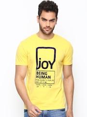 Being Human Men Yellow T-Shirt