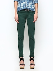 Being Human Women Green Slim Fit Chino Trousers