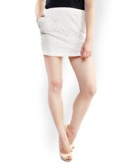 Belle Fille White Mini-Skirt