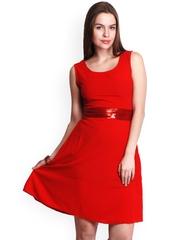 Belle Fille Red Fit & Flare Dress