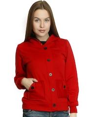 Belle Fille Women Red Hooded Jacket