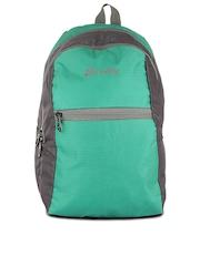 Bendly Kids Unisex Teal Green & Grey Backpack