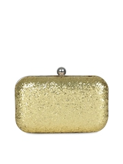 Berrypeckers Gold Toned Box Clutch
