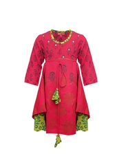 Biba Girls Red Printed Kurta