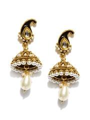 Bindhani Gold Toned Drop Earrings