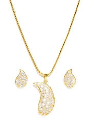 Bindhani Gold Plated Earring & Pendant Set