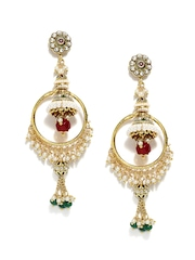 Bindhani Gold-Toned Jhumka Earrings