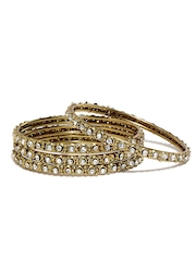 Bindhani Set of 4 Gold-Toned Bangles
