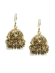 Bindhani Gold Plated Jhumkas