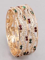 Bindhani Women Gold Plated Bangles