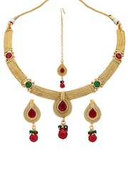 Bindhani Gold Toned Jewellery Set