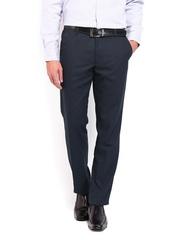 Black Coffee Men Charcoal Grey Regular Slim Fit Formal Trousers