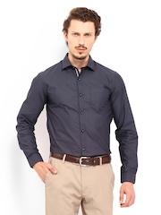 Black Coffee Men Charcoal Grey Slim Fit Formal Shirt