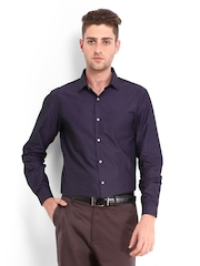 Black Coffee Men Purple Slim Fit Formal Shirt