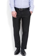 Black Coffee Men Black Regular Slim Fit Formal Trousers
