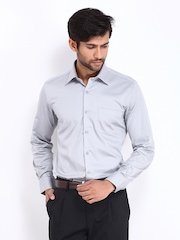 Black Coffee Men Grey Slim Fit Formal Shirt