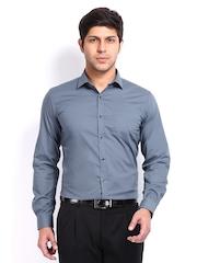 Black Coffee Men Grey Slim Fit Formal Shirt