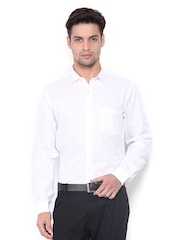 Black Coffee Men White Slim Fit Formal Shirt