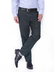 Black Coffee Men Grey Regular Slim Fit Formal Trousers