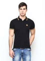 Blackberrys Men Black Polo T-shirt