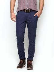 Blackberrys Men Blue Sharp Fit Trousers