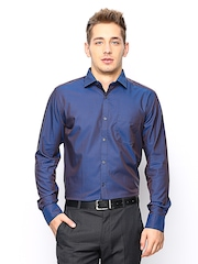 Blackberrys Men Blue Slim Fit Semi Formal Shirt