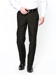 Blackberrys Men Brown Sharp Fit Formal Trousers