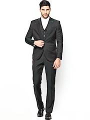 Blackberrys Men Green Wool Blend Single-Breasted Formal Suit