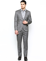 Blackberrys Men Grey Single-Breasted Semiformal Suit