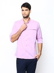 Blackberrys Men Purple Slim Fit Casual Shirt