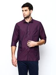 Blackberrys Men Purple Slim Fit Casual Shirt