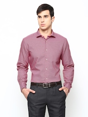 Blackberrys Men Red Slim Fit Semiformal Shirt