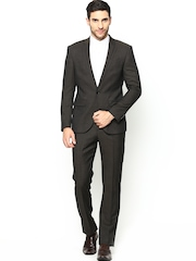 Blackberrys Men Brown Woollen Single-Breasted Suit