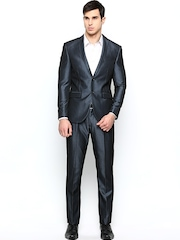 Blackberrys Men Grey Single-Breasted Formal Suit